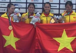 ASIAD 2018: Tự hào bốn cô gái Vàng Rowing Việt Nam