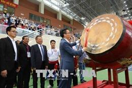 Phó Thủ tướng Vũ Đức Đam đánh trống khai mạc Giải vô địch thế giới Võ cổ truyền Việt Nam