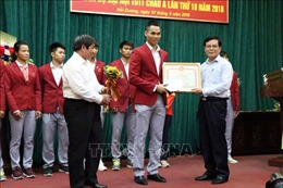 Hải Dương trao thưởng cho 'chàng trai vàng' Pencak Silat Trần Đình Nam