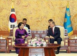 Thông tin đậm nét về cuộc gặp giữa Chủ tịch Quốc hội Việt Nam và Tổng thống Hàn Quốc