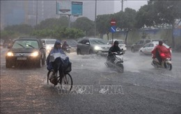 TP Hồ Chí Minh: Xe cộ ùn ứ do cơn mưa lớn hơn 1 tiếng đồng hồ