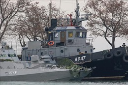 Ba thủy thủ Ukraine trên tàu chiến bị bắt giam với cáo buộc thâm nhập trái phép vào Nga