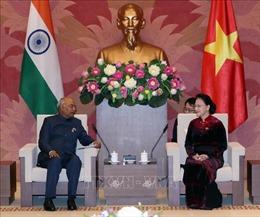 Chủ tịch Quốc hội Nguyễn Thị Kim Ngân hội kiến Tổng thống Ấn Độ Ram Nath Kovind