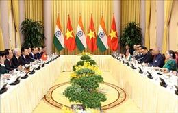 Tổng Bí thư, Chủ tịch nước Nguyễn Phú Trọng hội đàm với Tổng thống Ấn Độ Ram Nath Kovind