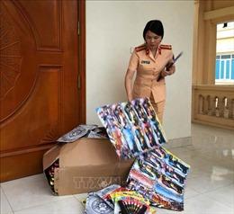 Bắt giữ xe đầu kéo vận chuyển 1,7 tấn bánh kẹo ngoại không giấy tờ