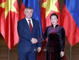 Chủ tịch Quốc hội Nguyễn Thị Kim Ngân hội đàm với Chủ tịch Duma Quốc gia Nga