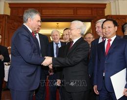 Chủ tịch Duma Quốc gia Nga kết thúc chuyến thăm chính thức Việt Nam
