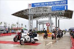 Chính thức thu phí dịch vụ sử dụng đường bộ cầu Văn Lang - Ba Vì