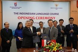 Ngôn ngữ Indonesia chính thức được giảng dạy tại Đại học Quốc gia Hà Nội