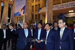 Thủ tướng kiểm tra Trung tâm Báo chí Hội nghị Thượng đỉnh Mỹ - Triều Tiên lần 2