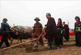 Phó Thủ tướng Trương Hòa Bình xuống đồng cày ruộng trong lễ Tịch điền