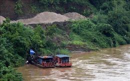 Tạm dừng khai thác cát sỏi lòng sông Chảy đoạn qua địa bàn Đông Khê, Phú Thọ