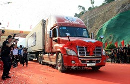 Thông xe tuyến đường chuyên dụng vận tải hàng hóa Tân Thanh (Việt Nam) - Pò Chài (Trung Quốc)