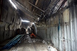 Khu nhà xưởng xảy ra hỏa hoạn tại Trung Văn nằm trên đất lấn chiếm