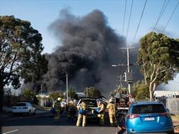 Cháy lớn tại một nhà máy ở Melbourne, Australia