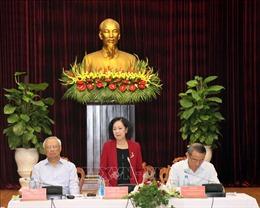Trưởng Ban Dân vận Trung ương Trương Thị Mai làm việc tại Đà Nẵng