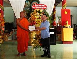 Đoàn Ủy ban Trung ương MTTQ Việt Nam chúc Tết Chôl Chnăm Thmây tại Hậu Giang
