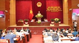 HĐND tỉnh Hòa Bình họp phiên bất thường, kiện toàn công tác cán bộ