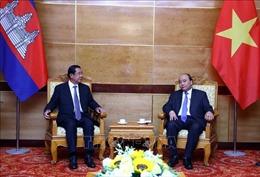 Thủ tướng tiếp lãnh đạo Campuchia và Lào sang dự Quốc tang nguyên Chủ tịch nước Lê Đức Anh