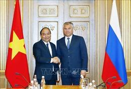 Thủ tướng Nguyễn Xuân Phúc hội kiến Chủ tịch Đuma quốc gia Nga