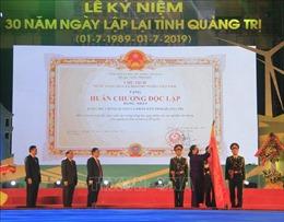 Phó Chủ tịch Quốc hội Tòng Thị Phóng dự Lễ kỷ niệm 30 năm lập lại tỉnh Quảng Trị