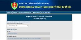 TP Hồ Chí Minh tiếp nhận làm thủ tục cấp căn cước công dân qua mạng