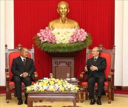 Thường trực Ban Bí thư Trần Quốc Vượng tiếp Đoàn đại biểu Đảng Nhân dân Cách mạng Lào