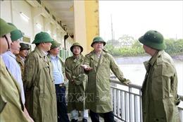Bí thư Thành ủy Hoàng Trung Hải thị sát công tác vận hành các trạm bơm tiêu thoát nước