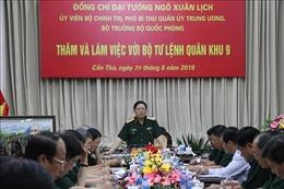 Bộ trưởng Bộ Quốc phòng thăm, làm việc với Bộ Tư lệnh Quân khu 9