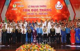 Vinh danh 10 kỹ sư, công nhân xuất sắc tại Lễ trao Giải thưởng Tôn Ðức Thắng lần thứ 19