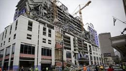 Sập khách sạn đang thi công tại Mỹ