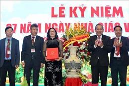 Phó Thủ tướng Trương Hòa Bình chúc mừng thầy, cô giáo Học viện Nông nghiệp Việt Nam