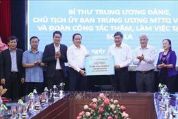 Chủ tịch Ủy ban Trung ương MTTQ Việt Nam thăm, làm việc tại Sơn La