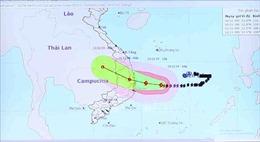 Bão số 6 giật cấp 13 cách bờ biển Bình Định đến Khánh Hòa khoảng 170 km