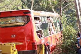 Xe khách lao xuống vực ở Lâm Đồng, 15 người may mắn thoát nạn