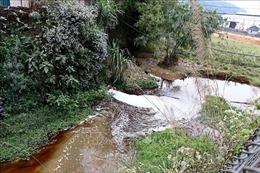 Hòa Bình: Công ty TNHH Hồng Cơ vẫn ngang nhiên tiếp tục xả thải ra suối Dụ