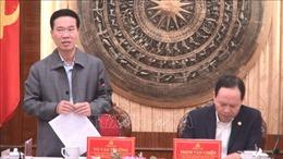 Đồng chí Võ Văn Thưởng làm việc với lãnh đạo chủ chốt tỉnh Thanh Hóa