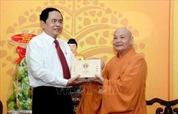 Thăm, chúc Tết Chủ tịch Hội đồng Trị sự Giáo hội Phật giáo Việt Nam
