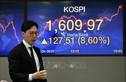 Chứng khoán châu Á tăng điểm mạnh