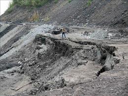 Sạt trượt bất thường tại bãi đổ thải mỏ than của Công ty Gang thép Thái Nguyên