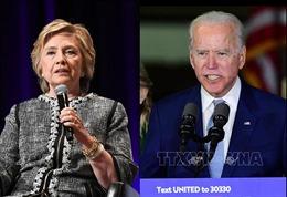Ứng cử viên Joe Biden nhận được sự ủng hộ của bà Hillary Clinton