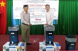 Tiếp nhận thiết bị lọc, xử lý nước tặng người dân vùng khô hạn Sóc Trăng