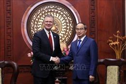 Lãnh đạo Thành phố Hồ Chí Minh tiếp Đại sứ Hoa Kỳ tại Việt Nam