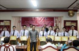 Bế giảng lớp học tiếng Việt nâng cao cho cán bộ, chiến sĩ Bộ Công an Lào