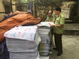 Hà Nội thu giữ số lượng lớn xuất bản phẩm không có hóa đơn