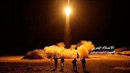 Liên quân do Saudi Arabia đứng đầu đánh chặn tên lửa của phiến quân Houthi