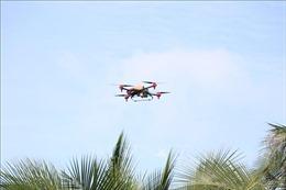 Phun thuốc diệt sâu gây hại cây dừa bằng máy bay không người lái