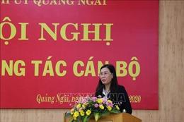 Đồng chí Bùi Thị Quỳnh Vân được bầu làm Bí thư Tỉnh ủy Quảng Ngãi