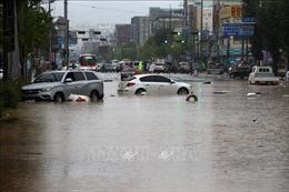 Điện thăm hỏi mưa lớn kéo dài ở Hàn Quốc
