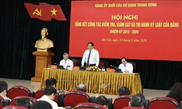 Đảng ủy Khối các cơ quan Trung ương tổng kết, triển khai công tác kiểm tra, giám sát